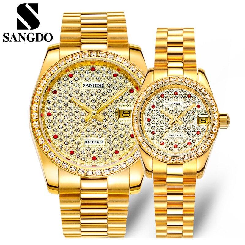Luxury Full Crystals Lovers Brand Dress Wrist watc