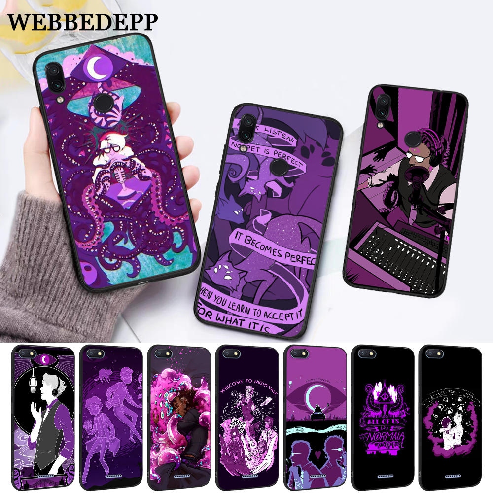 WEBBEDEPP night vale fan art Silicone Case for Xiaomi Redmi Note 4X 5 6 7 Pro 5A  Prime