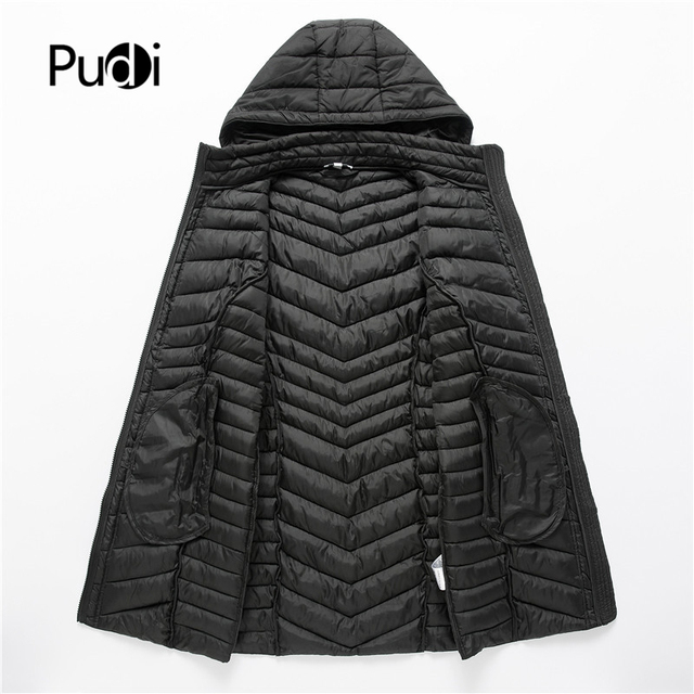 PUDI QY902 Women Cotton Parka Winter Woman Long Casual Jacket Solid Color Hooded Coats And Jackets Spring Autumn Warm Outwear 3