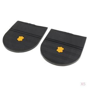 Image 5 - 5 paires talons en caoutchouc colle sur la semelle de chaussure réparation coussinet de remplacement pour hommes et femmes chaussure talon protecteur 6mm épais chaussures accessoires