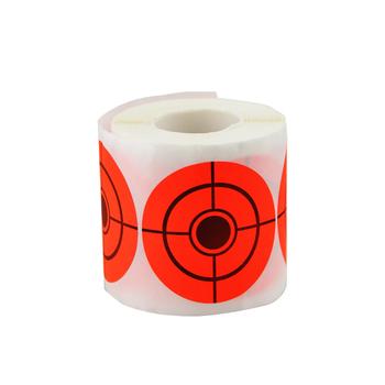 250 sztuk 3 'reaktywne Splatter cele papieru do polowania łucznictwo strzałka szkolenia strzelać akcesoria fluorescencyjny pomarańczowy tanie i dobre opinie diposlong CN (pochodzenie) Target sticker target sticker Target adhesive tape target adhesive attachment 250pcs convenient