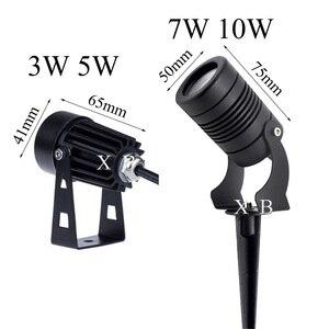 Светодиодный садовый COB-светильник, 3 Вт, 5 Вт, 7 Вт, 10 Вт, фонарь для газона, Водонепроницаемый светодиодный светильник, садовый прожектор для ...