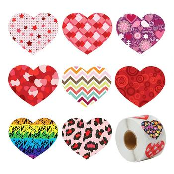 Heart Shape Adhesive Scrapbook Label-Sticker Round Stickers Gift Box Sealing Label-Package DIY Diary Album Sealing Decal Decor image