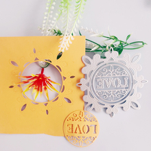 Love background empty circular pattern metal cutting die new paper jam handicraft photo album embossing die square board with small grove pattern cutting die