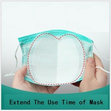 50 Pieces Mask Pad In Stock for Disposable Surgical Mask Extend the Use Time of Mask Each Piece is Packed Separately