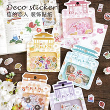 Gift Decoration Sticker Flakes School-Supplies Japanese-Style Girl 45pcs/Pack