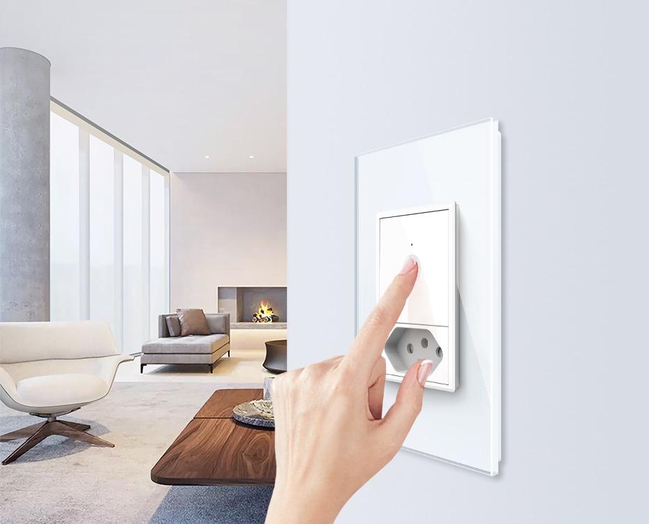 toque de parede, 2way controle remoto, vidro