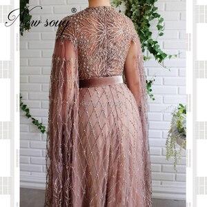 Image 2 - Robe De Soiree uzun gül kabarık akşam elbise düğün resmi Dubai parti törenlerinde 2020 orta doğu Sequins balo Pageant törenlerinde dubai