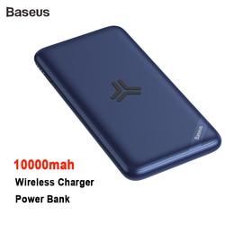 Baseus 10000 mah capacidade real carregador sem fio power bank suporte pd3.0 + qc3.0 carregador rápido para iphone x samsung huawei