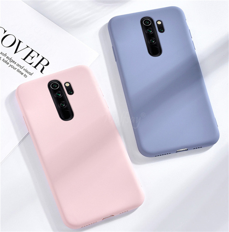 Candy TPU Case For Xiaomi Redmi 9 Case Redmi 9 8 8A 7A Note 8T 9 S Carbon Fiber Solid Color Liquid Phone Case For Redmi 9 Cover