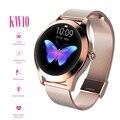 2020 KW10 Смарт-часы для женщин IP68 Водонепроницаемый мониторинг сердечного ритма Bluetooth для Android IOS фитнес-браслет умные часы