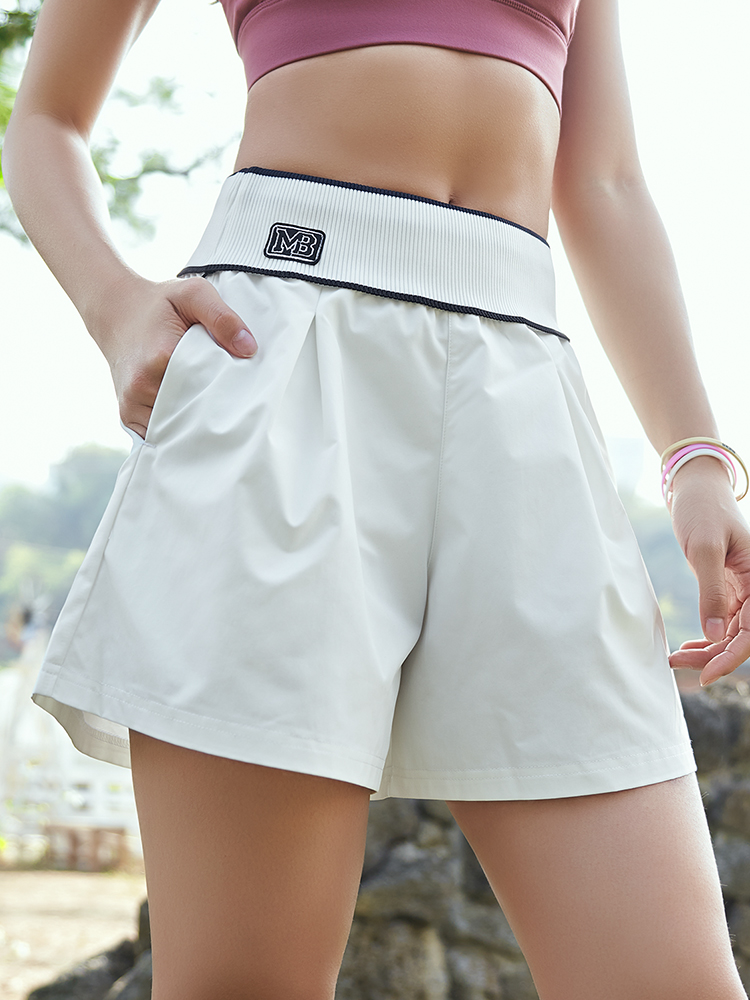 Really strange sports shorts female ins tide loose wearing anti-light-out fitness yoga shorts spring running casual shorts