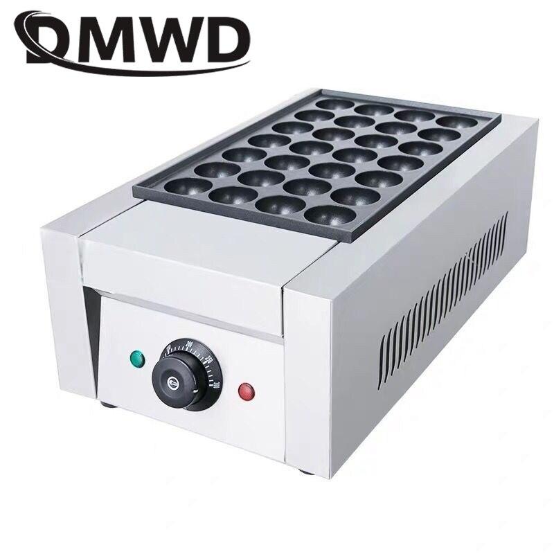 DMWD Commercial Electric Takoyaki Maker Grill Octopus Ball Baking Machine Non-stick Gas Chibi Maruko Cooker 28 Holes EU US Plug