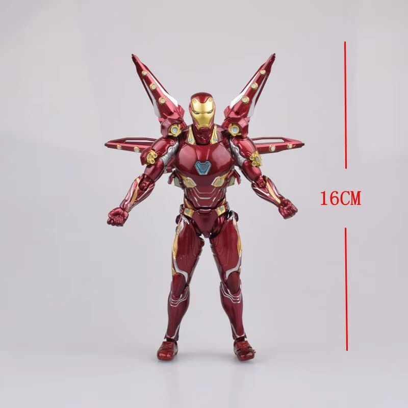 16 سنتيمتر SHF الأعجوبة المنتقمون 4 Endgame الحديد رجل MK50 نانو سلاح مجموعة 2 عمل نموذج لجسم لعب دمية ل هدية