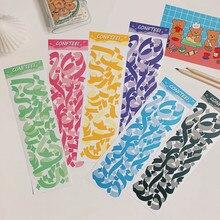 7 tipos de cinta de lazo bonito pegatina para álbum de recortes DIY diario planificador feliz de computadora móvil regalo decoración de sellado pegatina