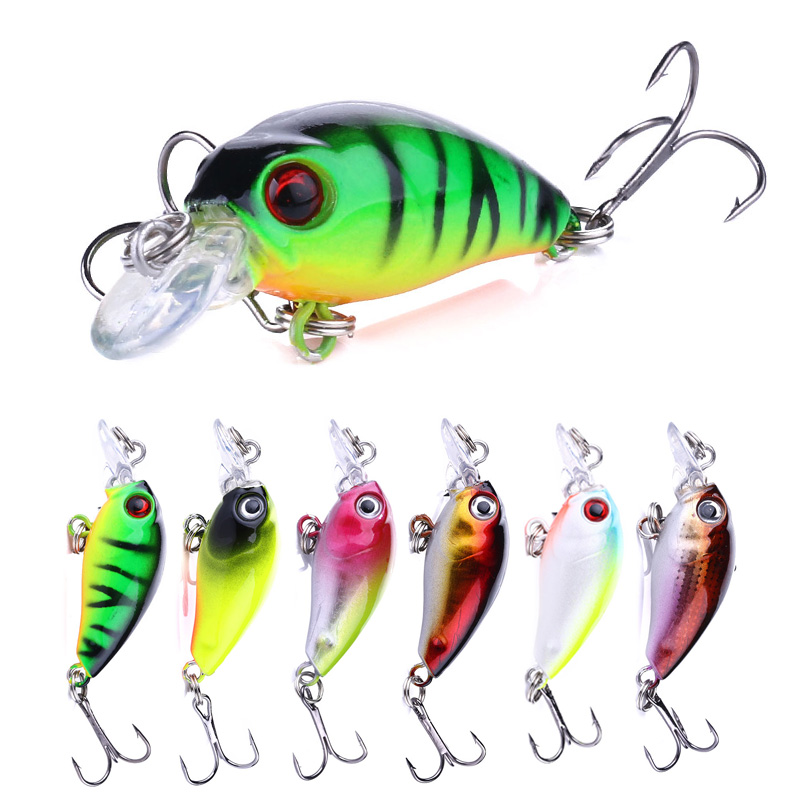 ThunderShower 45mm 4.1g Crankbait Fishing Lure Artificial Hard Crank Bait Bass Fishing Wobblers Topwater Minnow Fish Lures