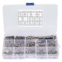 662Pcs DIY Combination Set M3 Pan Head Cross Machine Screw+Flat/Elastic Washer+Nut(China)