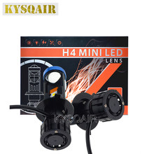 KYSQAIR New High Bright H4 LED Bulb Mini Projector Lens For Automobiles 12V 24V 6000K White Canbus LED H4 Hi/Low Beam Car Light