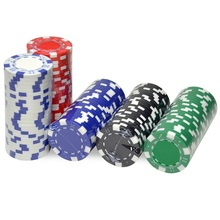 Poker-Chips-Set Texas-Hold'em-Poker Casino Metal-Coins Clay Iron ABS 10pcs/Lot