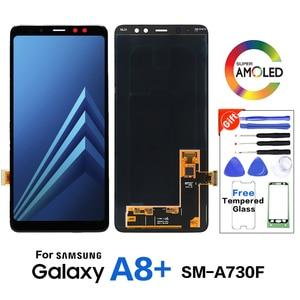 Image 1 - Amoled originale Per La Galassia A8 + A730 SM A730F LCD Screen Display di Ricambio per Samsung A8 + SM A730X display LCD schermo