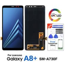 Original Amoled Para Samsung Galaxy A8 + A730 SM A730F LCD Screen Display Substituição para Samsung A8 + SM A730X display LCD tela