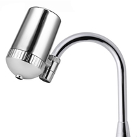 Stainless Steel Faucet Water Filter Mineral Stone Tap Water Purifier Kitchen Tap Water Filter Rust Removal Washable Filter