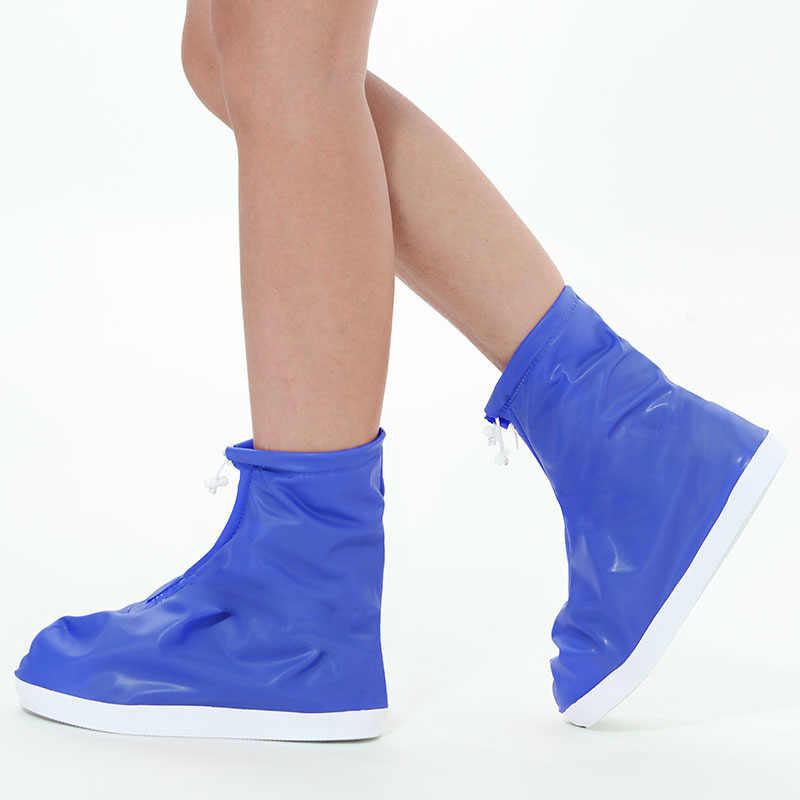 Yağmur ayakkabısı kılıfları Kadınlar Erkekler Için Yağmur Su Geçirmez Ayakkabı Kapakları Kalınlaşmış Aşınmaya dayanıklı Alt Yetişkin Ve Çocuk Yağmur bot galoşları