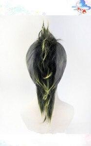 Image 4 - Anime Demon Slayer Kimetsu No Yaiba Shinazugawa Sanemi Cosplay Wig Halloween Hair+ Free Wig Cap