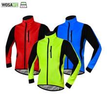 Cycling Jacket Soft-Shell Coat Fleece WOSAWE Hiking Sports Winter Men Hunting Polar-Heated