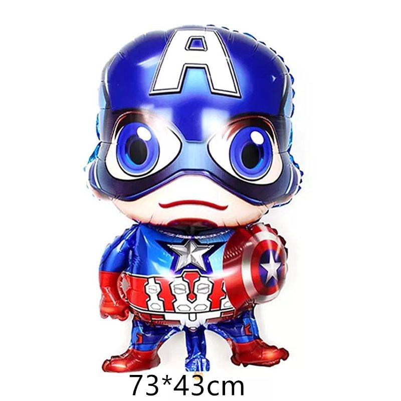 1pc Super Hero Iron Man Spiderman Aluminium Foil Ballons Birthday Party Decoration Kids Kid's Party Gift Captain America Toy