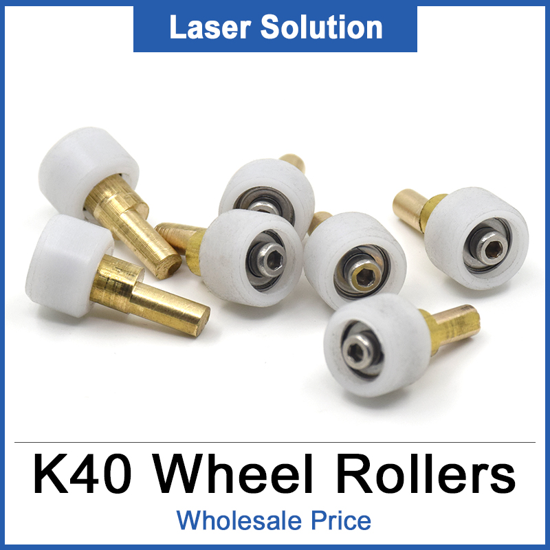 4pcs/Lot K40 Part Head Mount Carriage Wheel Rollers Set For CO2 Mini Laser Stamp Engraving Cutting Machine