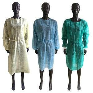 Bata protectora desechable antipolvo para el hogar y exteriores, ropa aislante a prueba de polvo para seguridad en el trabajo, 5/10 Uds.