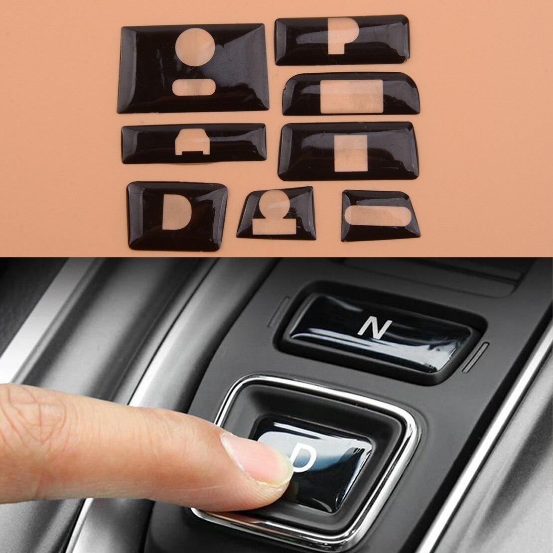 8 teile/satz Glänzend Schwarz Innere Getriebe Shift Schalter Taste Schutz Abdeckung fit für Honda Accord 2018 2019 2020