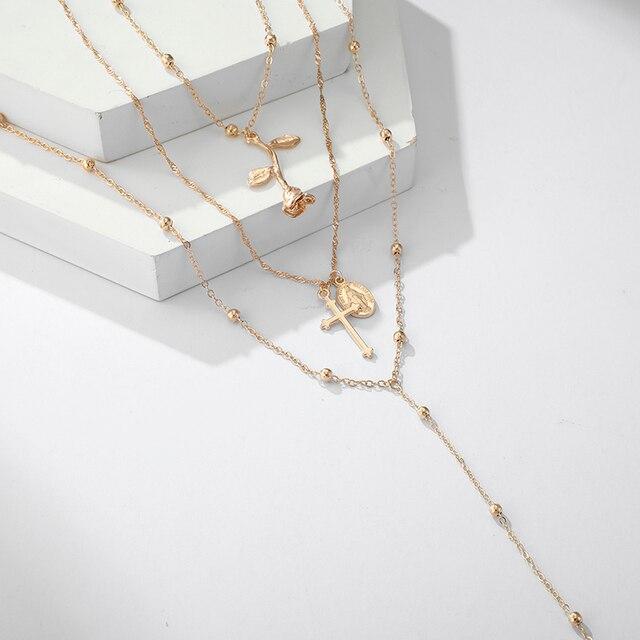 beautiful multiwrap beaded necklace 4