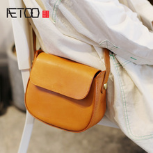 AETOO Vintage saddle bag, semi-round high-sense bag, 100-year-old with oceanic retro summer slant bag цена