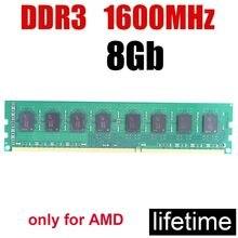8 جيجابايت ddr3 1600 ذاكرة عشوائية RAM 1600 ميجا هرتز 8 جرام ddr3 ميموريا PC3 12800 / 16 جيجابايت 4 جيجابايت 2 جيجابايت 16 جيجابايت/جيد متوافق المزدوج قناة تسريع