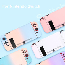 Có Thể Tháo Rời Coloful PC Vỏ Dành Cho Nintendos Nintend Switch NS NX Trường Hợp Bảo Vệ Có Nắp Lưng Vỏ Coque Siêu Mỏng