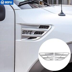 Image 4 - 포드 F150 랩터 2009 2014 SVT 편지에 대 한 자동차 바디 공기 흐름 환기 커버 펜더 장식 커버 액세서리에 대 한 MOPAI 스티커