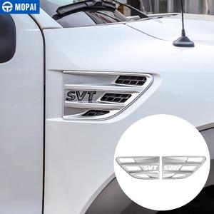 Image 4 - MOPAI מדבקה לרכב גוף זרימת אוויר Vent כיסוי פגוש קישוט כיסוי אביזרי עבור פורד F150 Raptor 2009 2014 SVT מכתב