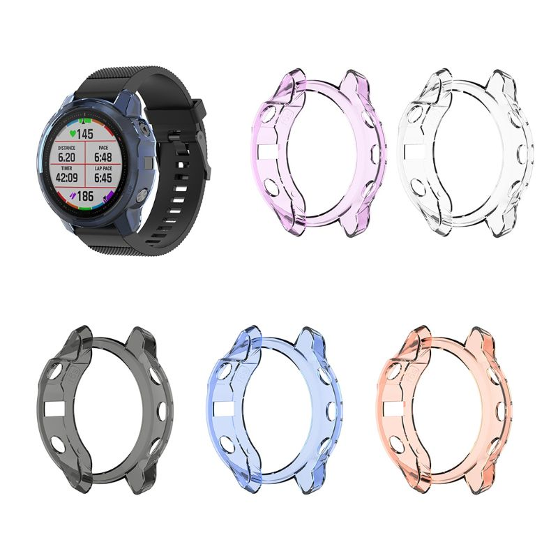 Soft Protective Case Shell Clear TPU Screen Protector For GARMIN Fenix 6S Watch