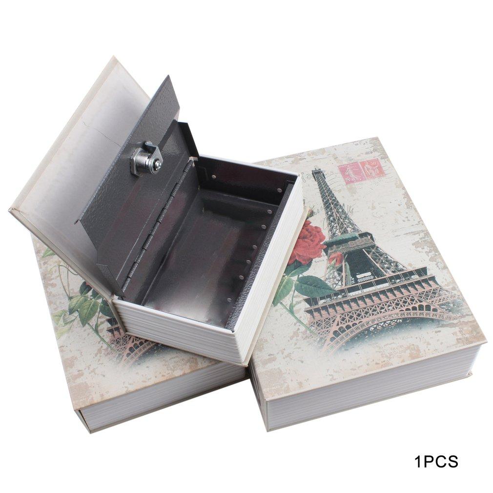 Exquisite Creative Book Safe Creative Book Insurance Box Money Box Small Key Box Creative Storage Gift