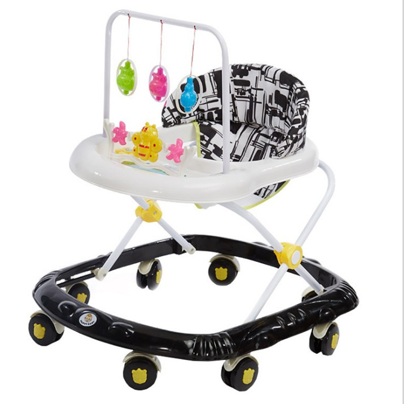 Multifunctional Anti-rollover Baby Walker 6 / 7--18 Months With Music Baby Walker