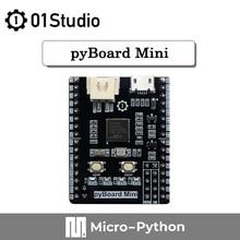 01 estúdio pyboard mini stm32f411ceu6 micropython stm32 desenvolvimento demonstração placa de programação embutida