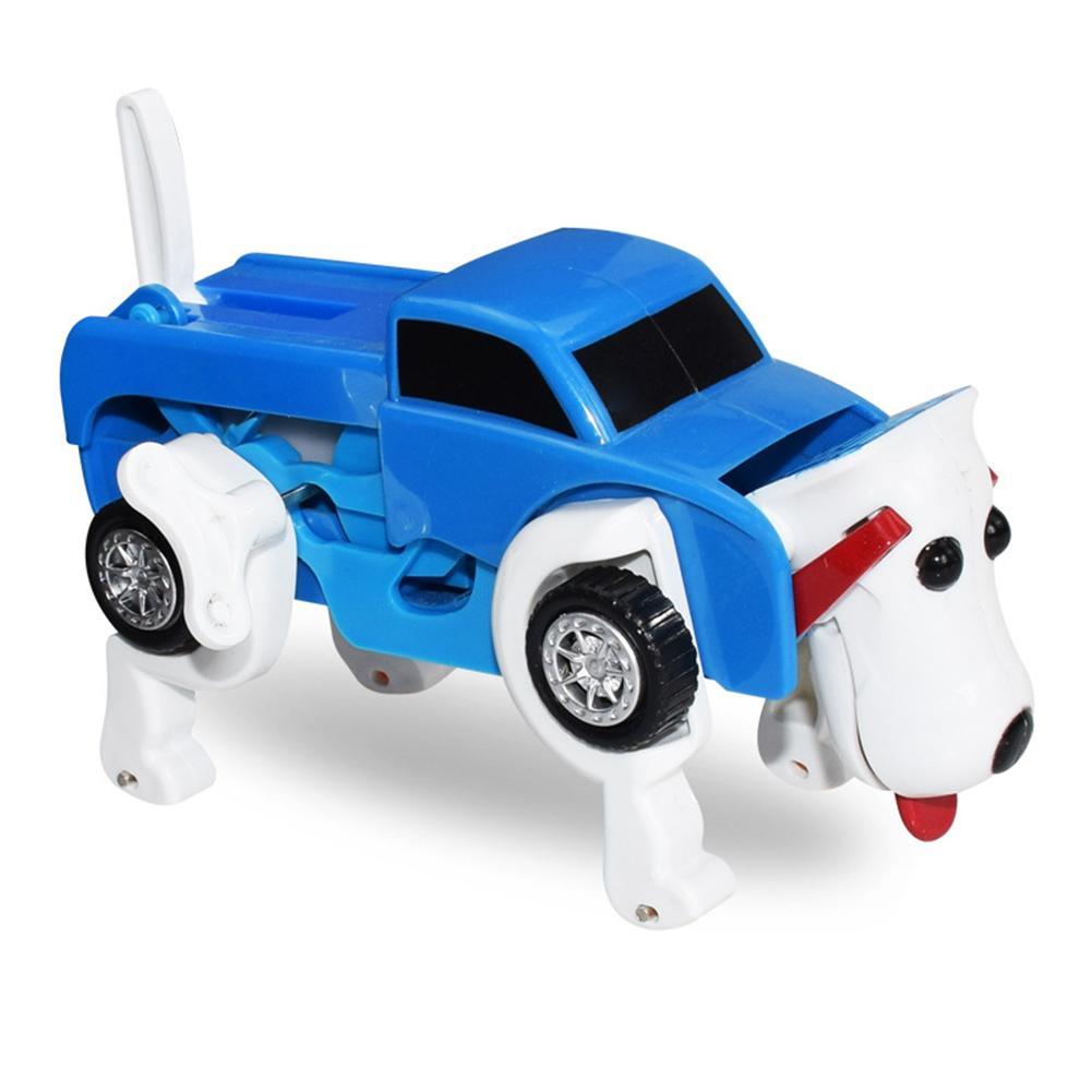 Kids Clockwork Dog Car Toy Deformable Transform Dog Car Toy For Children