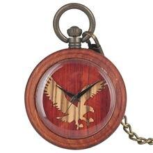 Unique Quartz Wooden Pocket Watch Women Owl Pattern Dial Men Pendant Watch Necklace Gift Warcraft reloj de bolsillo hombre цены