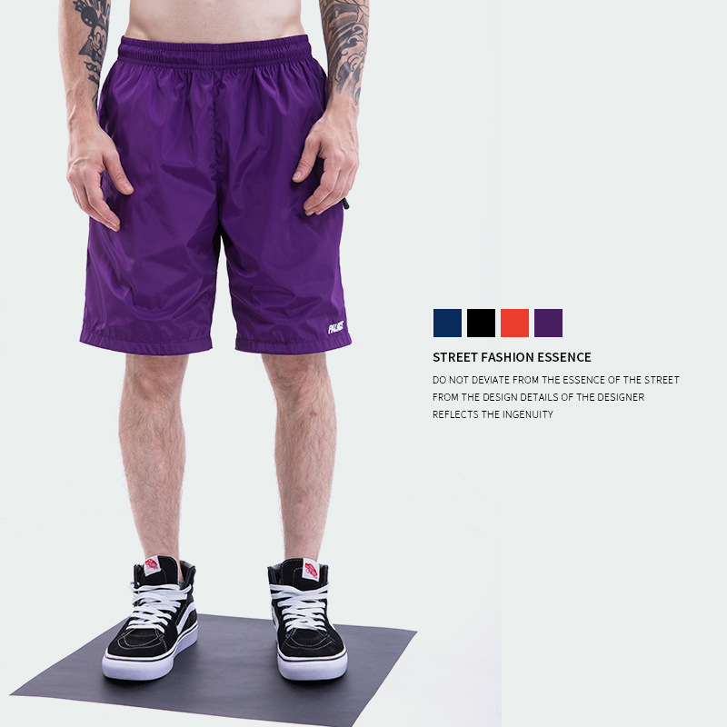 Palace Life 18ss Popular Brand Men'S Wear Retro Sports Color Quick Drying Pants Men's Casual Breathable Shorts