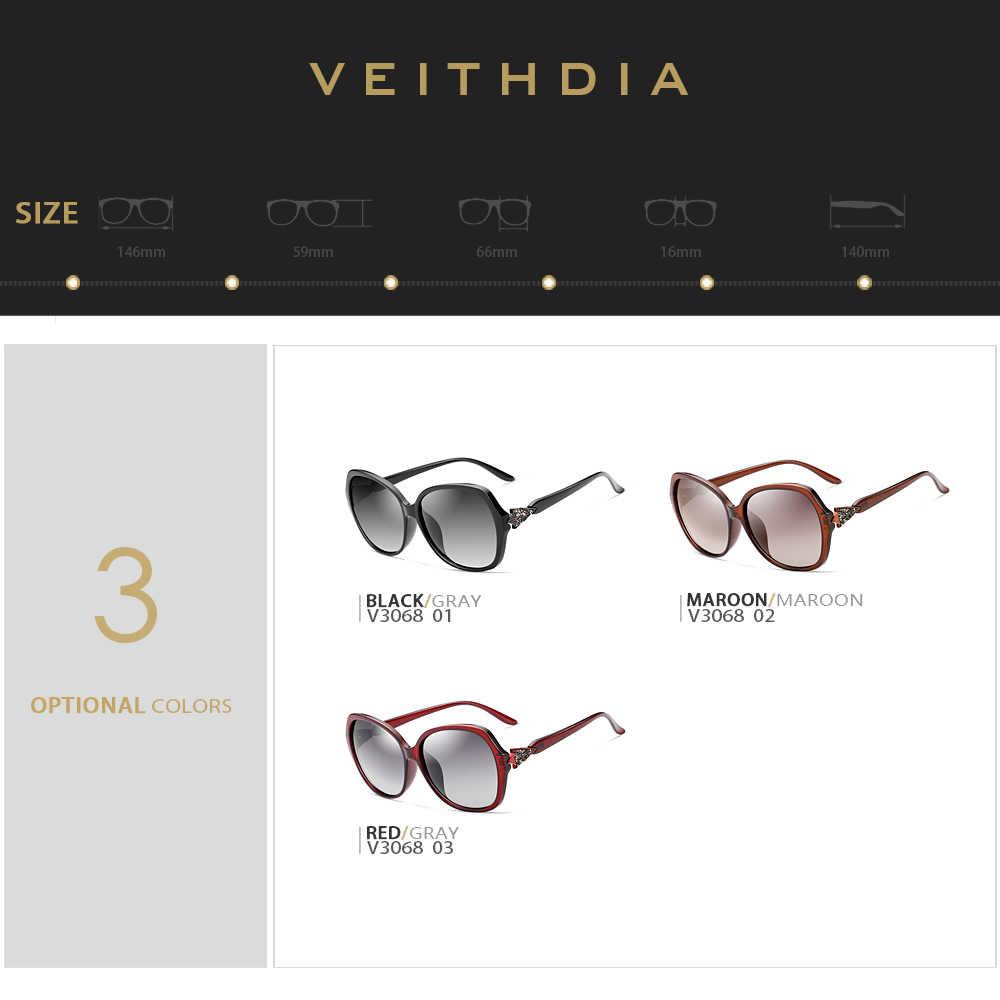 VEITHDIA แว่นตากันแดดผู้หญิงแว่นตา Polarized เลนส์แว่นตากันแดดอุปกรณ์เสริมสำหรับแว่นตาผู้หญิง 3068
