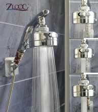 Zloog chuva cabeça de chuveiro de alta pressão poupança água botão parar handheld banheiro chuveiro chuveiro chuveiro cabeça spray superior