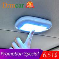 Universal automóvel interior do carro luz de leitura cúpula carregamento usb teto ímã lâmpada tipo toque luz da noite tronco drl