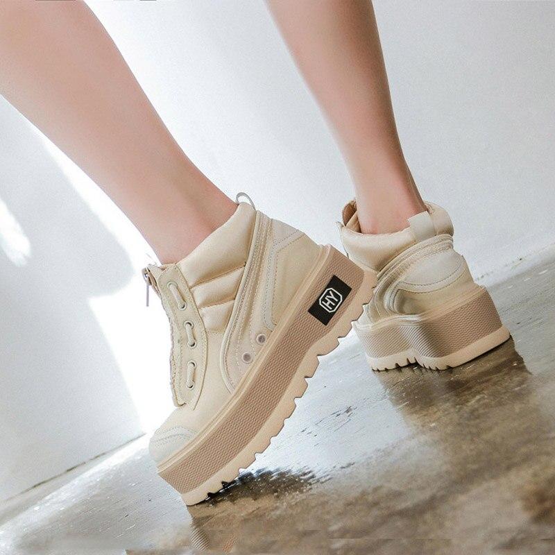 Femmes chaussures de mode marque plate-forme baskets dame chaussure croisé automne femme chaussures chaudes M2-70